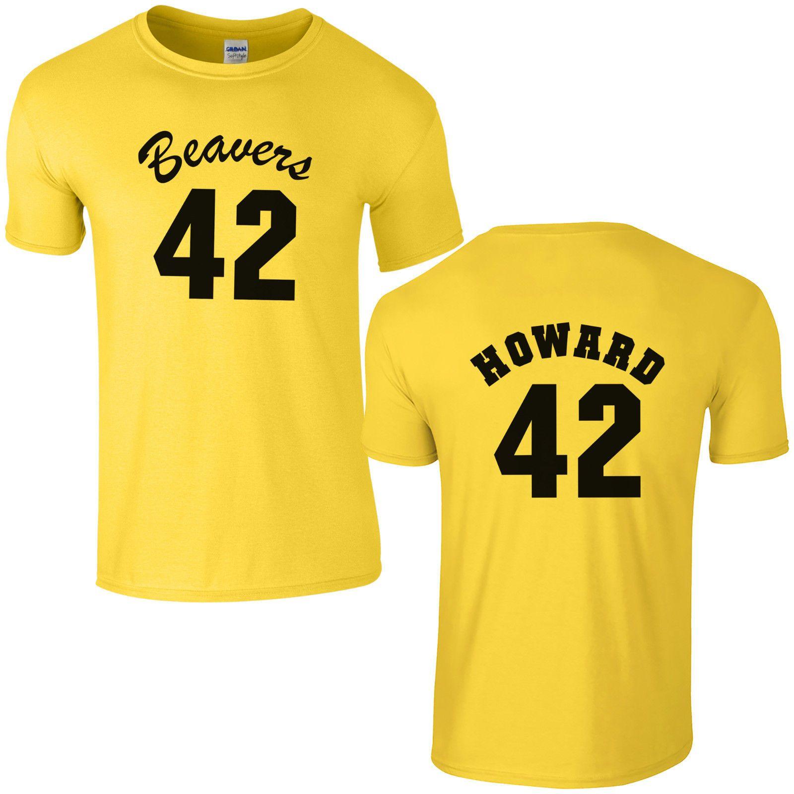 169479900162 Beavers 42 Basketball T-Shirt - Fancy Dress Costume Howard Teen Wolf Mens  Top
