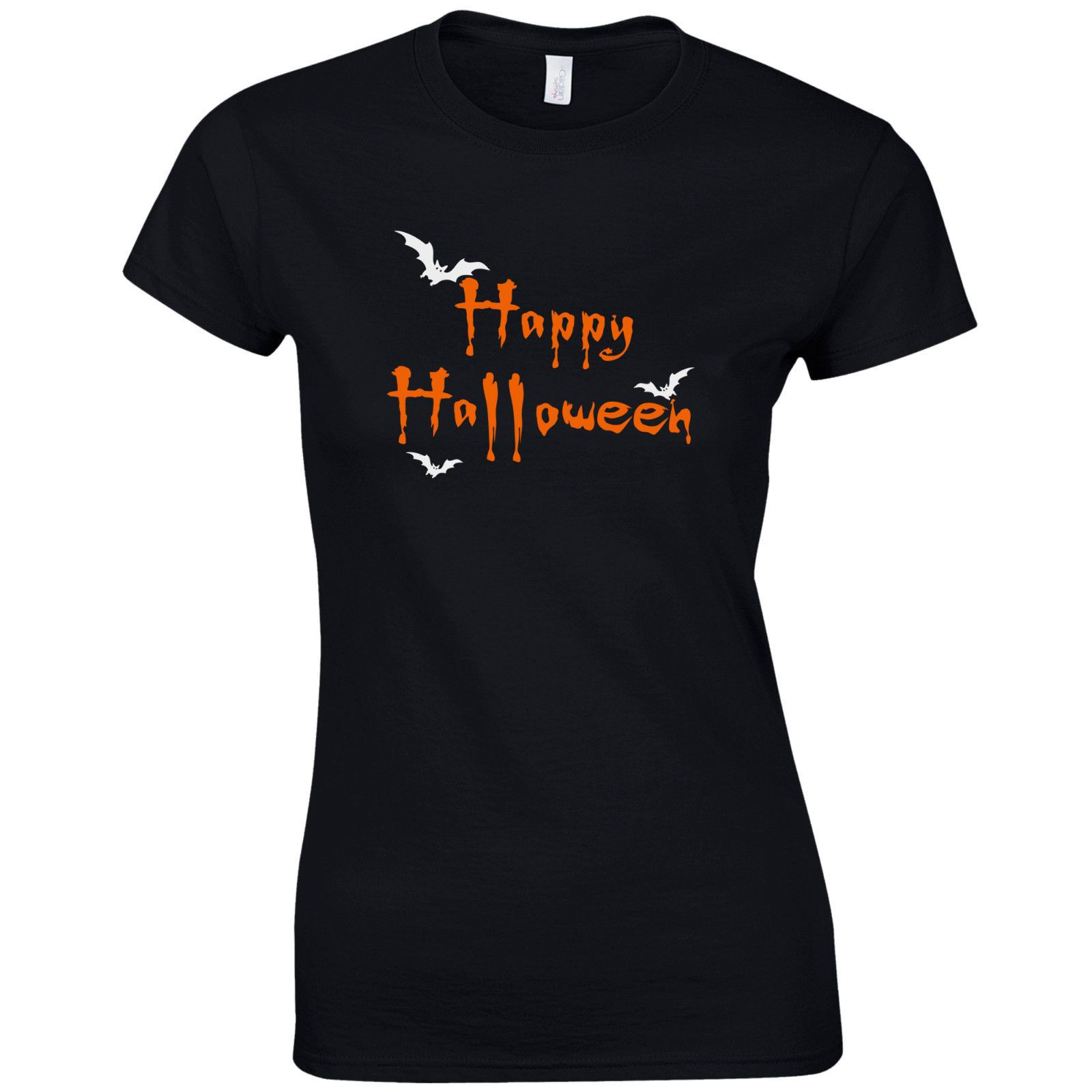 3bfe3dc2 Happy Halloween Freaky Bats Ladies Fitted T-Shirt - Funny Fancy Dress Gift  Top
