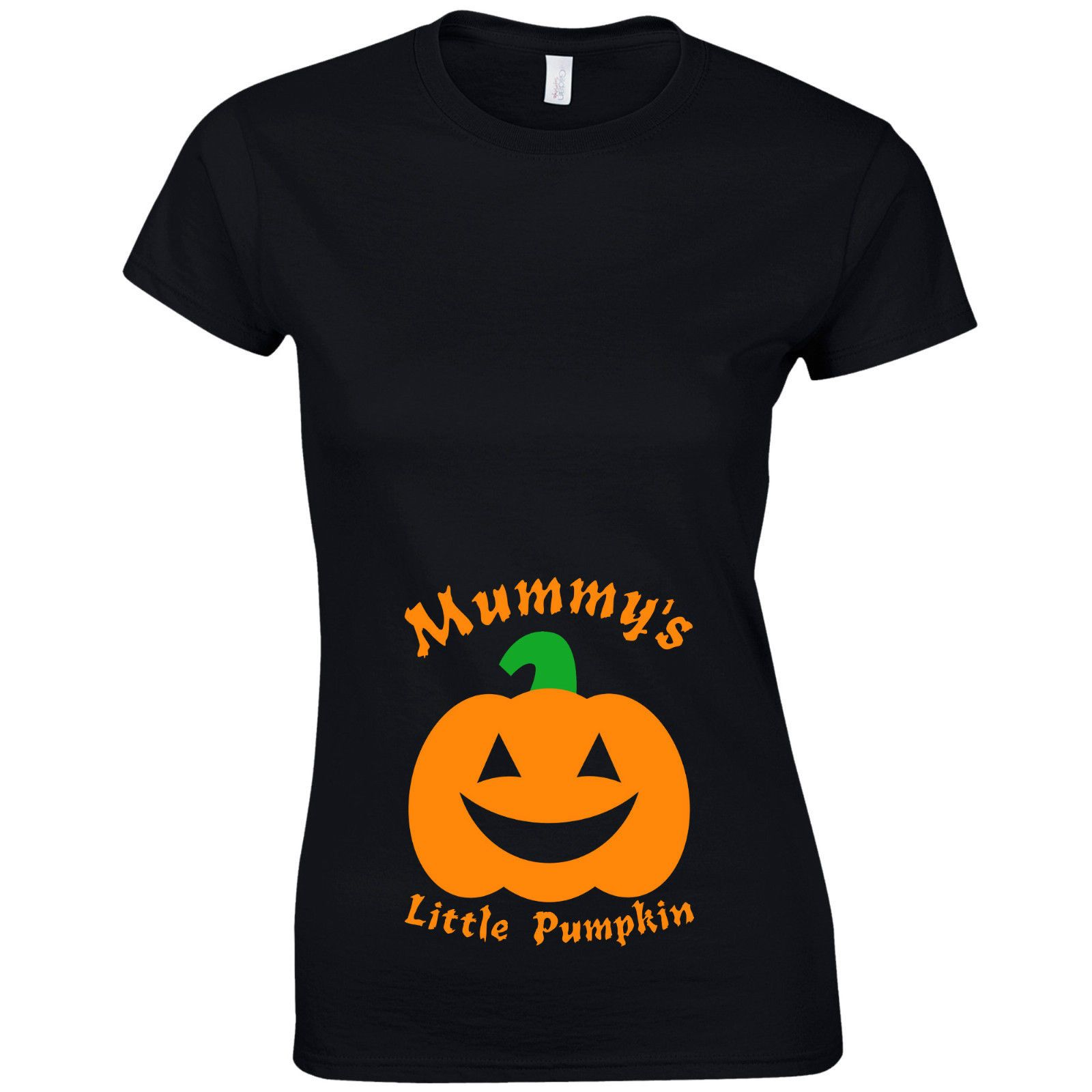 Mummy S Little Pumpkin Ladies Fitted T Shirt Funny