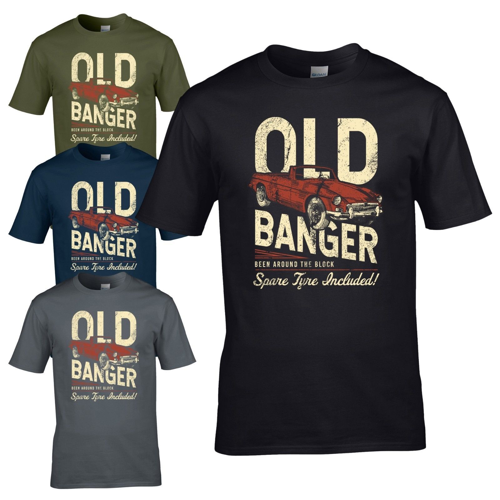 0599f9d18 Old Banger Retro T-Shirt - Been Around The Block Spare Tyre Included Mens  Top
