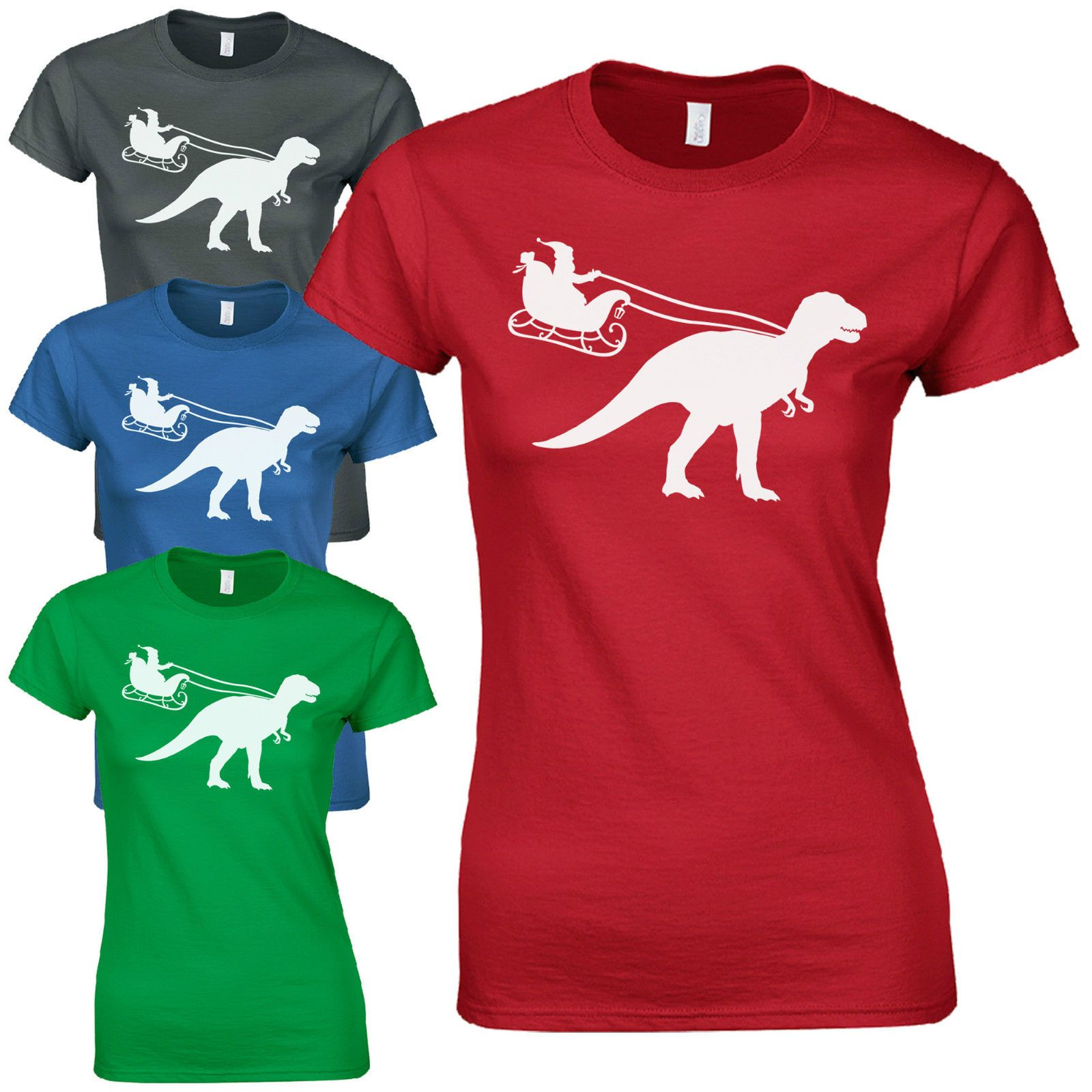 c6ee58e2 ... Dinosaur Ladies Fitted T-Shirt Funny T-Rex Jurassic Christmas Gift  variant attributes variant attributes. variant attributes. Stock Status :  In Stock