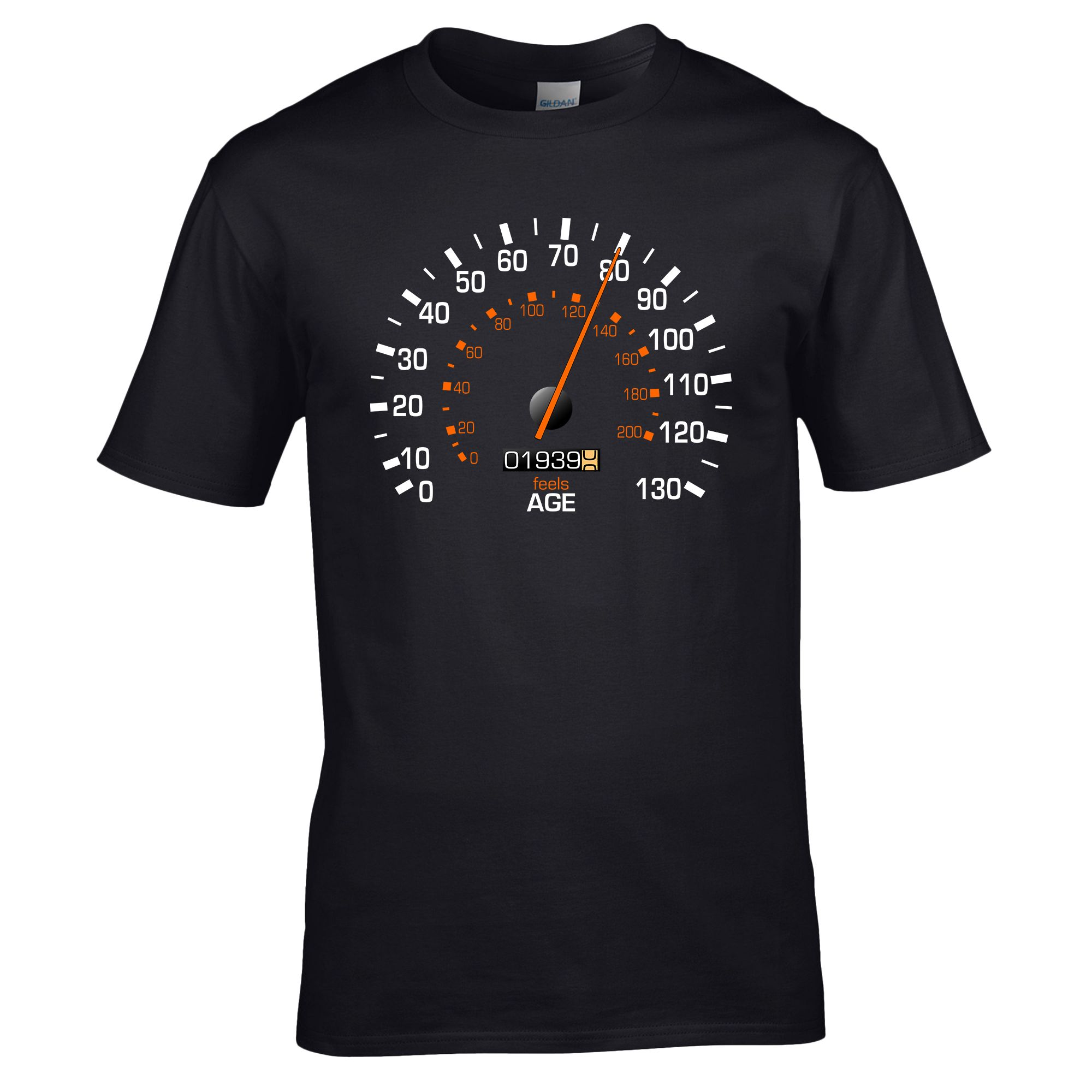 Speedometer 1939 Birthday T Shirt Funny Feels Age Year