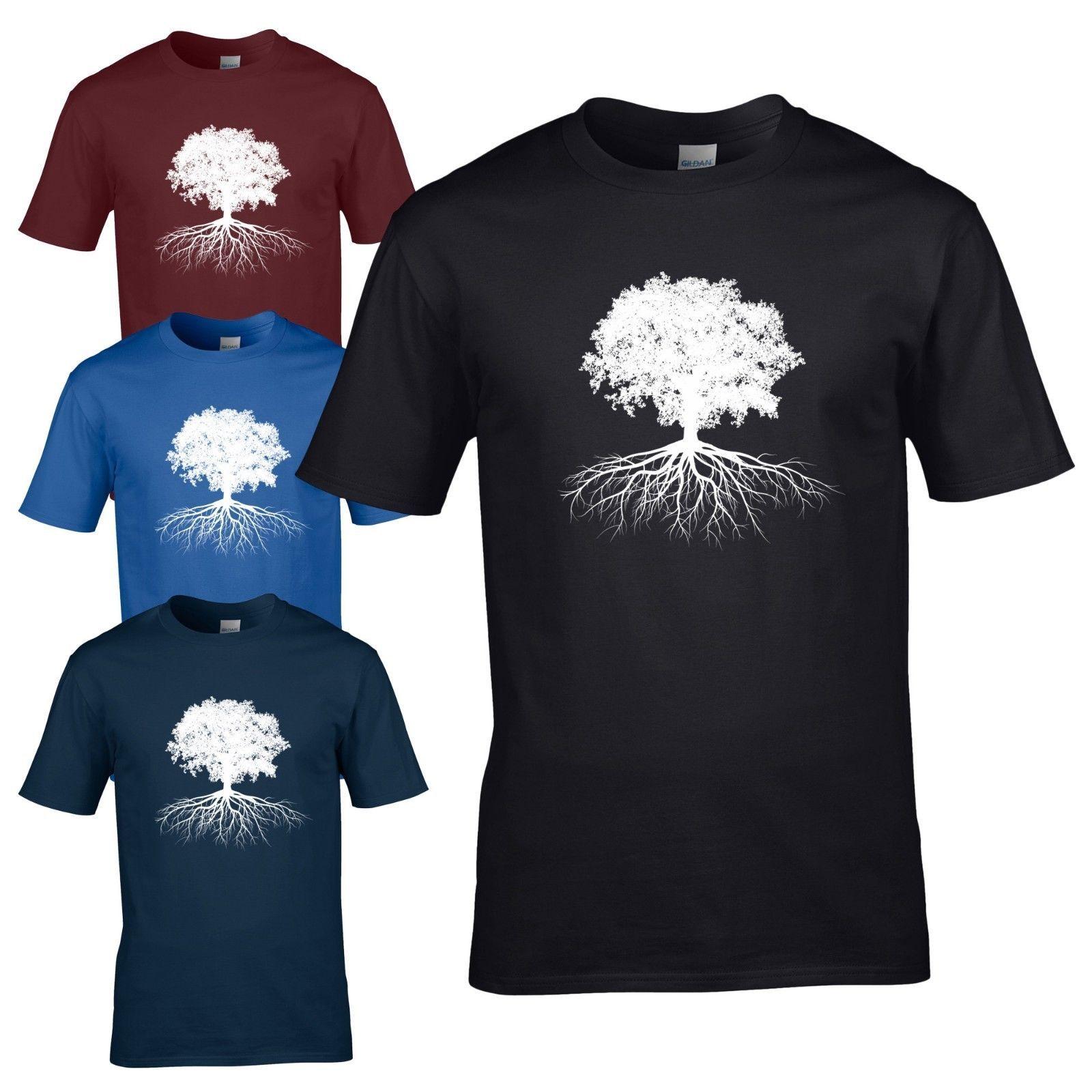 Tree Of Life T Shirt Celtic Gardener Wicca Druid Pagan Mens Gift Top